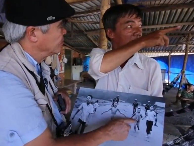 Watch Nick Ut Revisit the Site of His Iconic Napalm Girl Photo With His iPhone