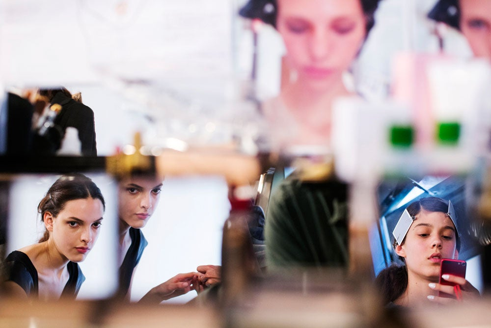 Photo of the Day: Primping Backstage for NY Fashion Week