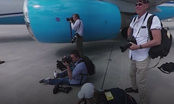 A 360° View of What It's Like to Photograph Hillary Clinton for The New York Times