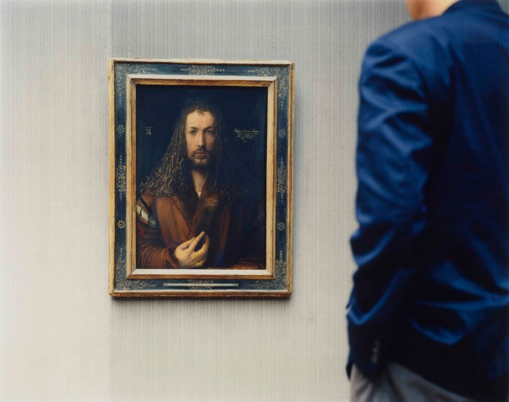 """Alte Pinakothek, Self-Portrait, Munich,"" 2000"