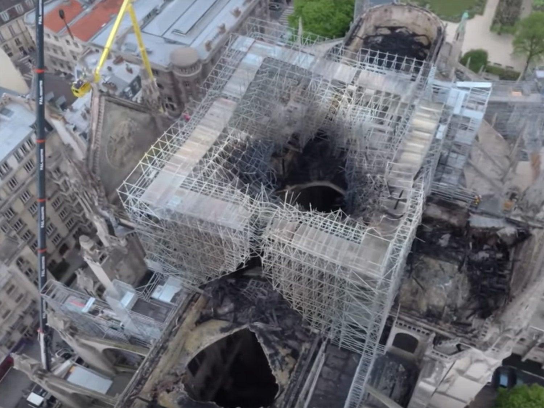 burned remains of Notre Dame