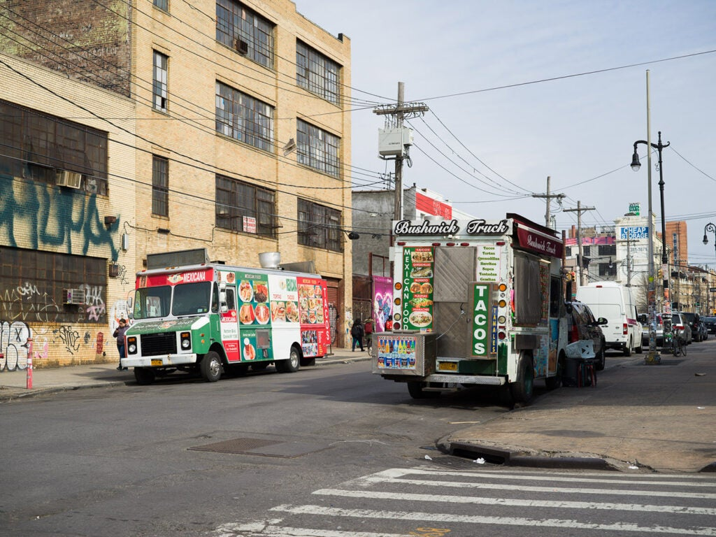 food trucks on the street