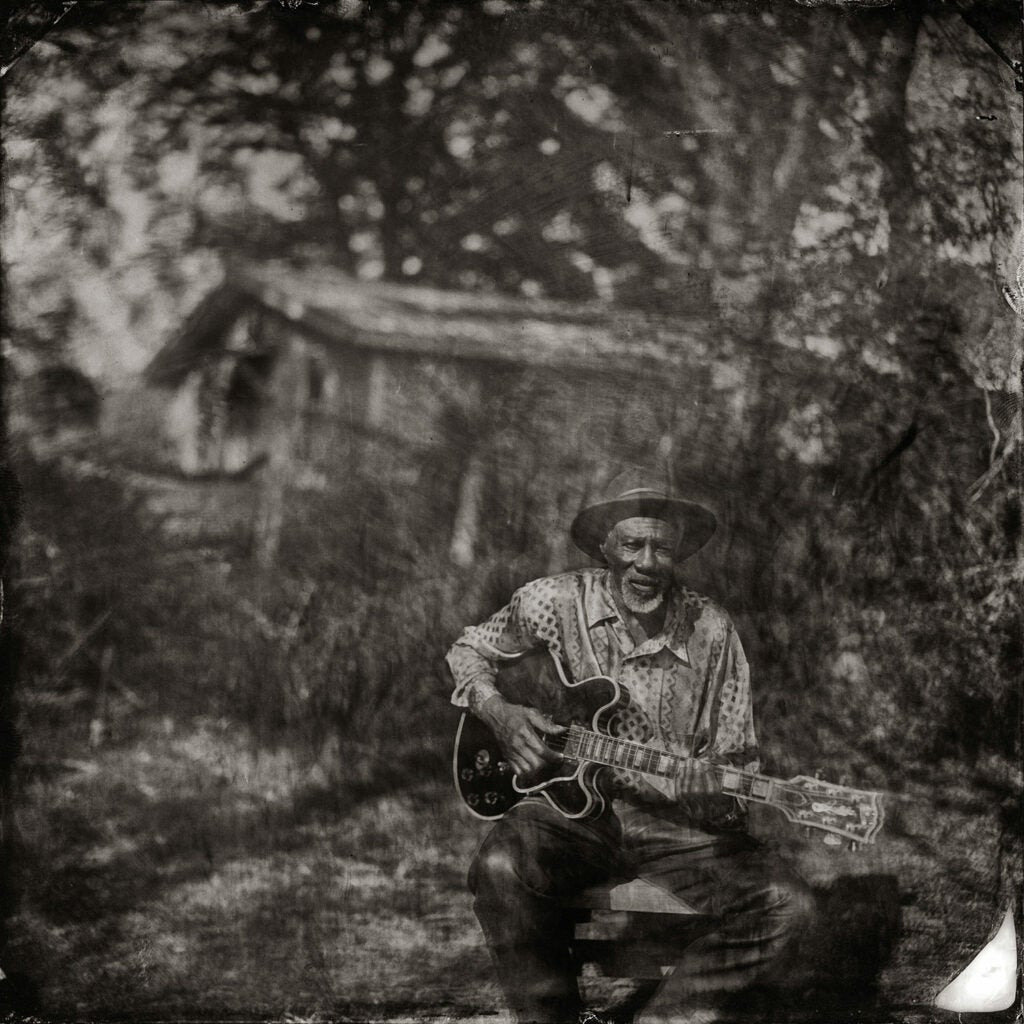 Robert Finley at Home playing guitar