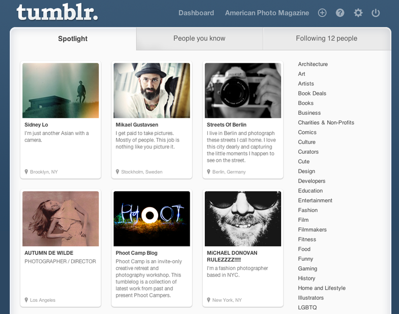 How To Find Great Tumblr Photography