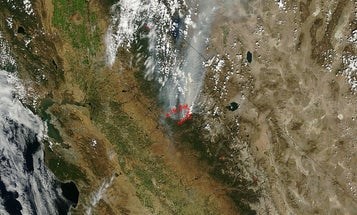 Photo of the Day: The Yosemite Wildfire, From Space
