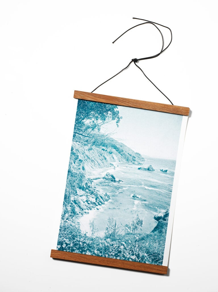 Parabo Risograph Print with 12-inch Wood Poster Rails
