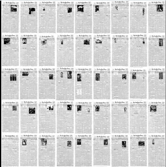 Watch This: The Evolution of Photographs on The New York Times Front Pages