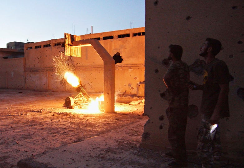 Photo of the Day: As the West Debates, Syrian Rebels Fight On