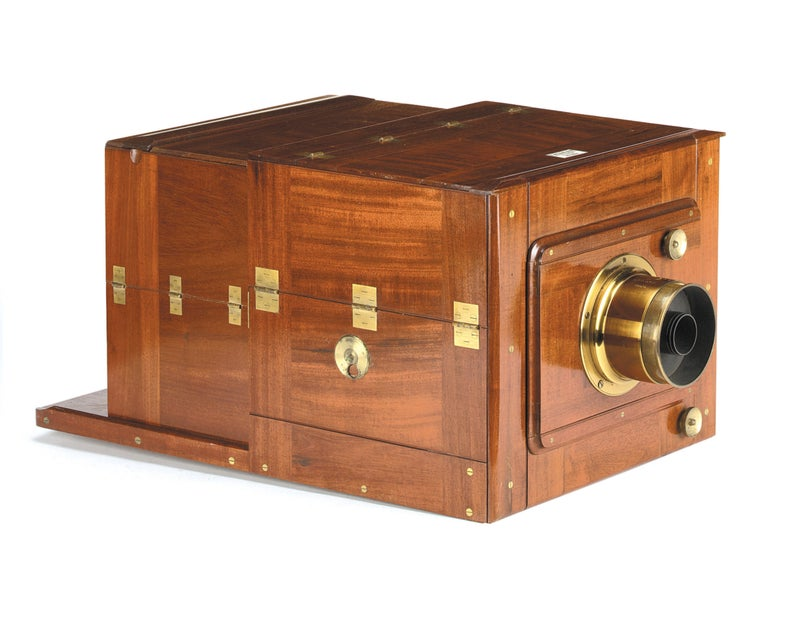 Ottewill's double-folding camera open