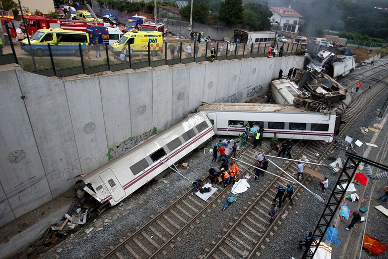 Photo of the Day: Spanish Train Wreck