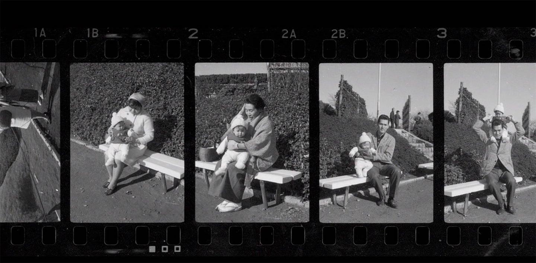 black and white photo strip