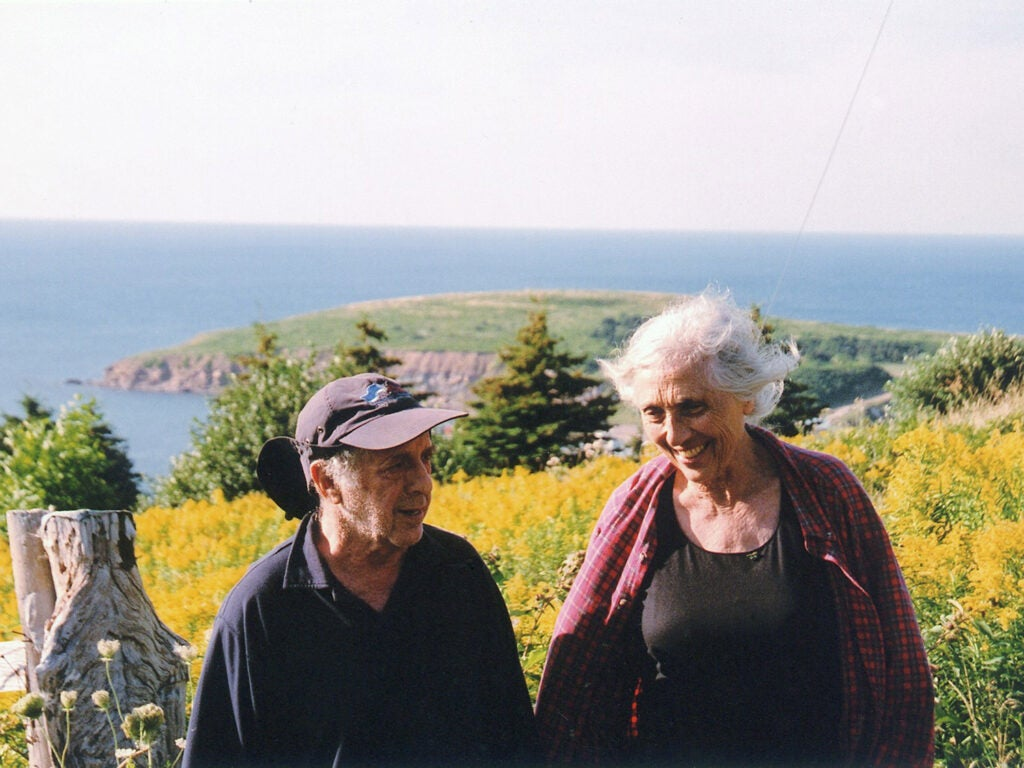 Robert and June in yellow field of flowers