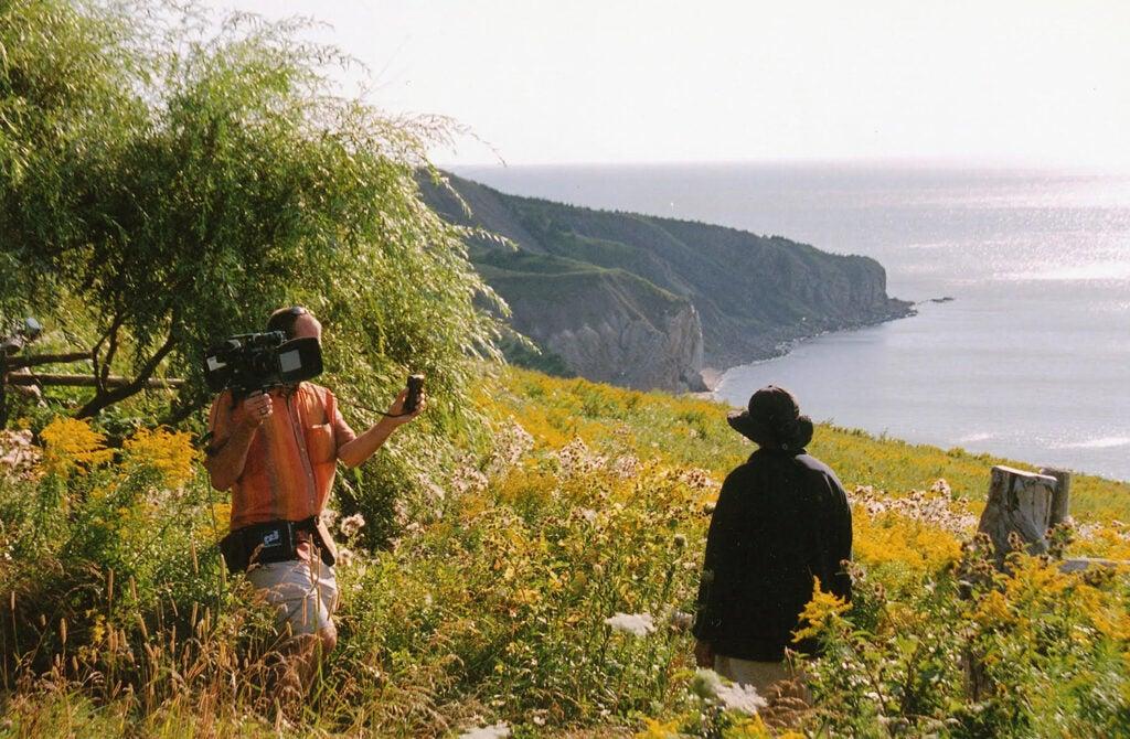 Filming with Robert Frank in Nova Scotia
