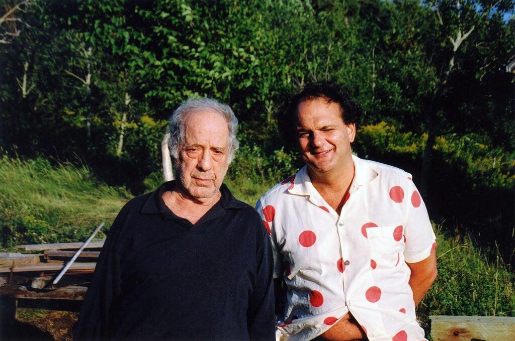 Director Gerald Fox poses with Robert Frank