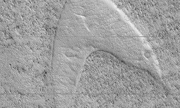 Redshirts on the red planet: Mars is sporting a giant Star Trek insignia
