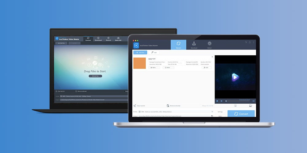 Convert, edit, and play video using Video Master.