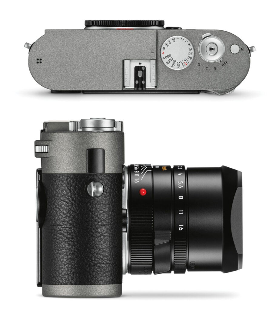 Leica M-E top and side view