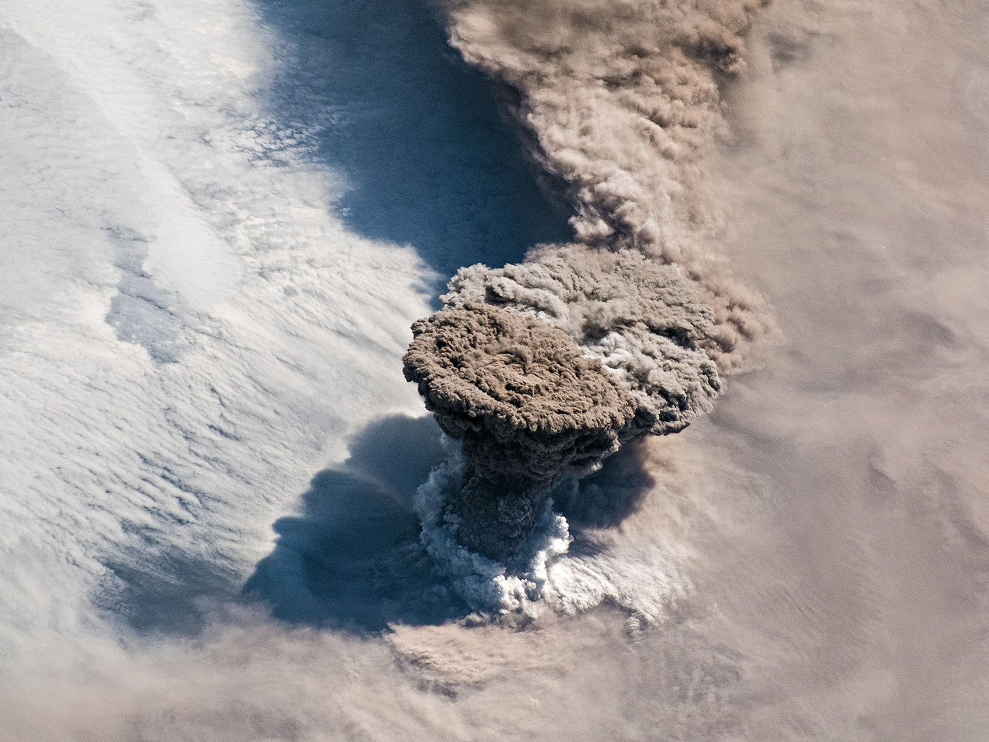 This is what it looks like to photograph a volcanic eruption from space