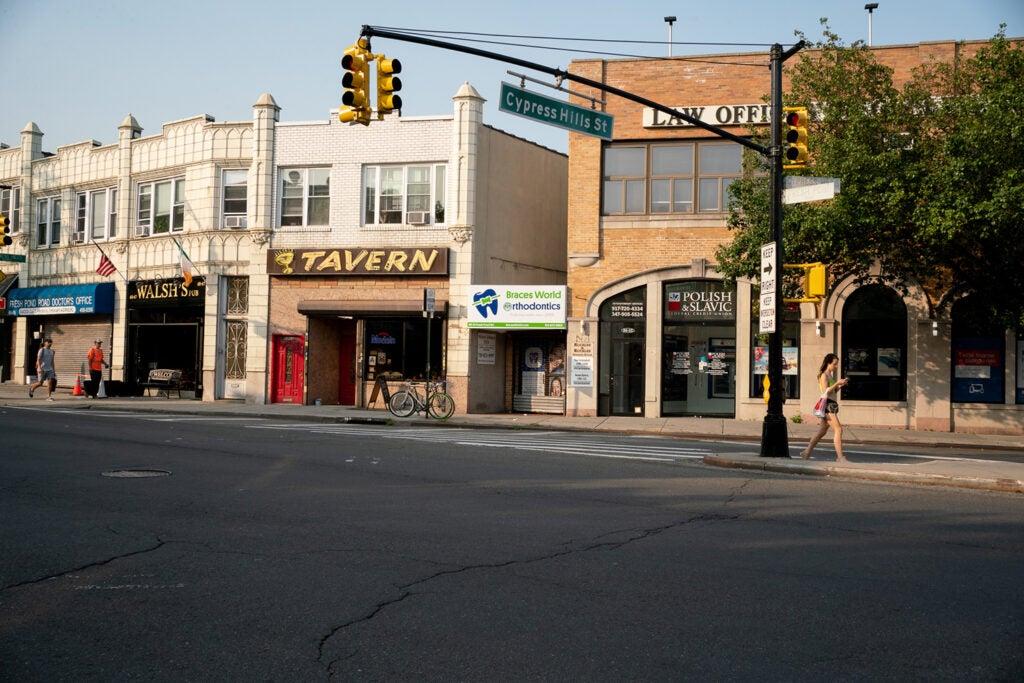 roadside shops in town