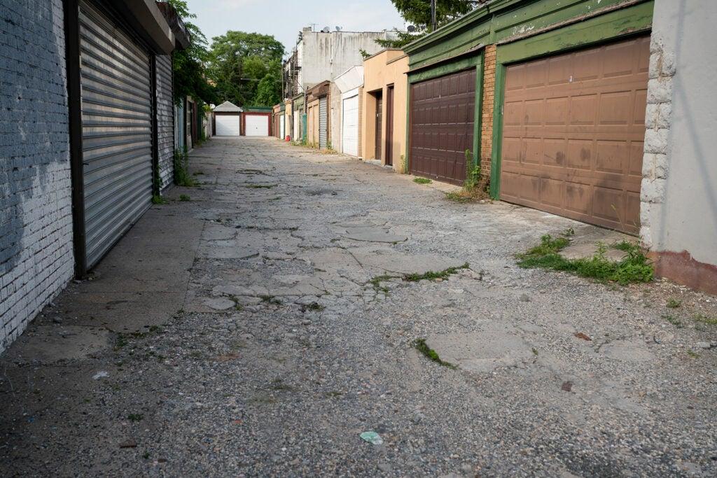 alley and garage doors