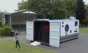 This photographer transformed a shipping container into a working camera