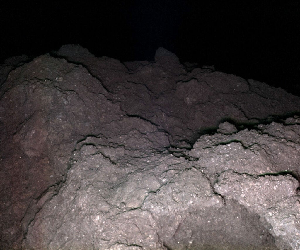 rocks in the dark