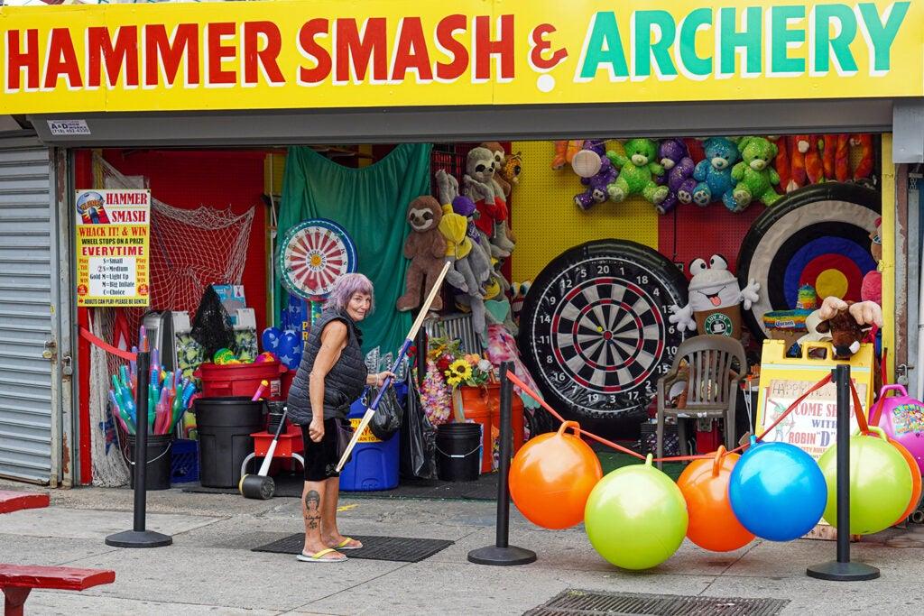 carnival archery attraction