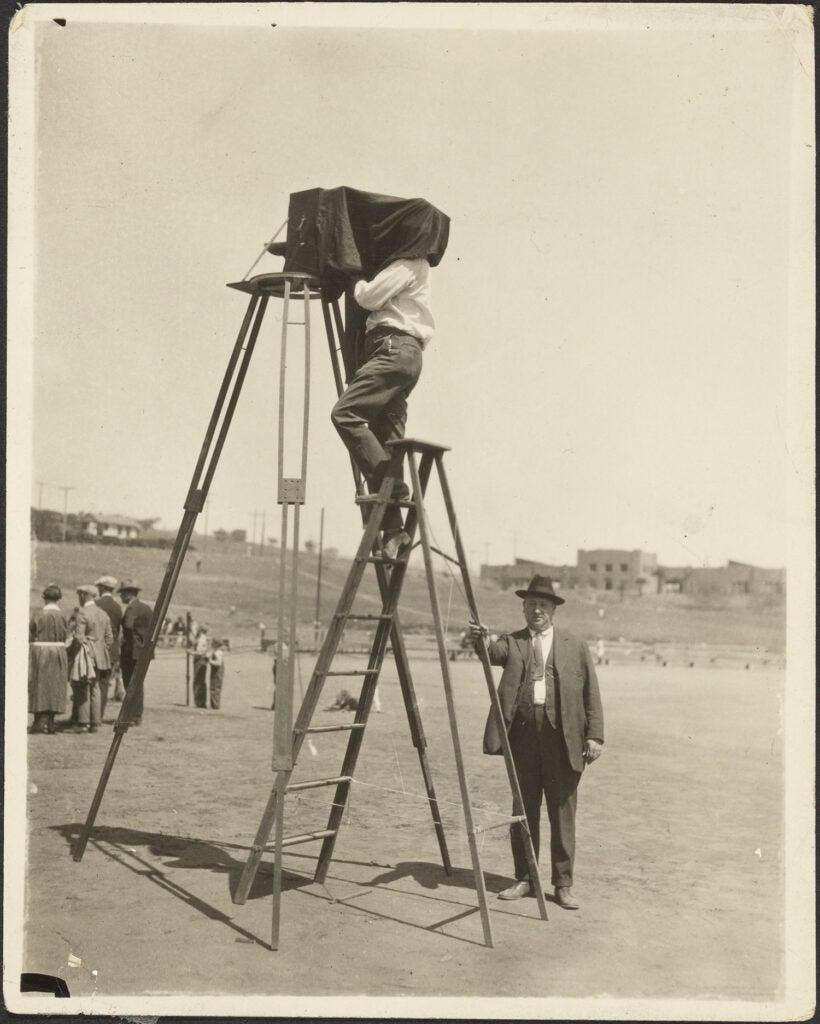 Camera on 12-foot Tripod