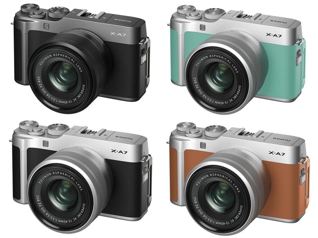 Fujifilm X-A7 color variations
