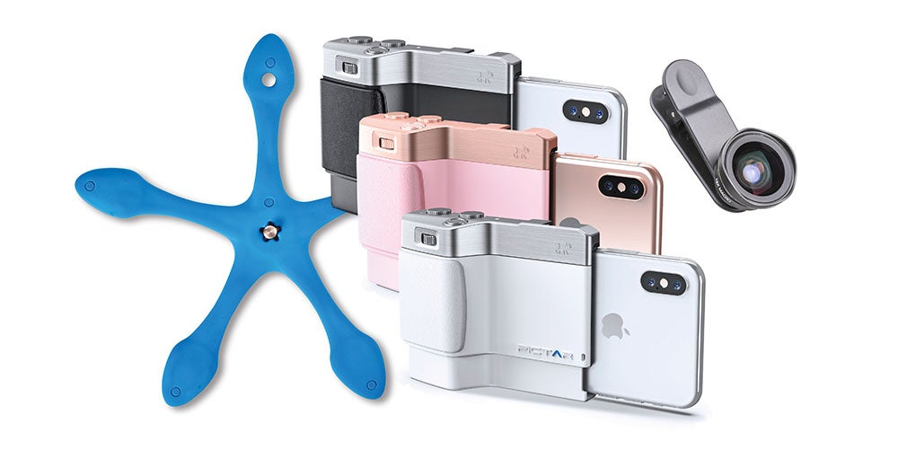 Enhance your smartphone camera's potential with this Pictar Smart Grip bundle