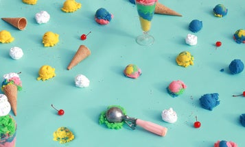 Elise Mesner's eye-catching, candy-colored dreamscapes provide a fresh take on stock photos