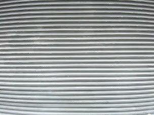 Ruts on a metal gate