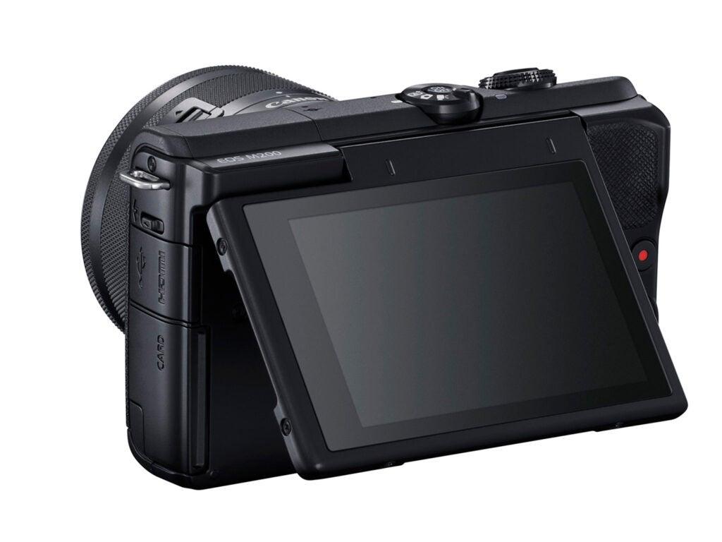 Canon EOS M200 Camera tilting touchscreen