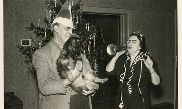 Check out these vintage photos of dogs and their people
