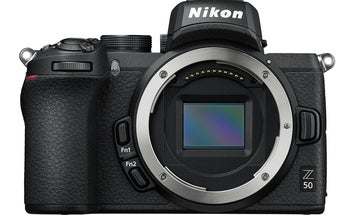 Nikon's Z50 is a mirrorless DX format camera with a Z mount lens