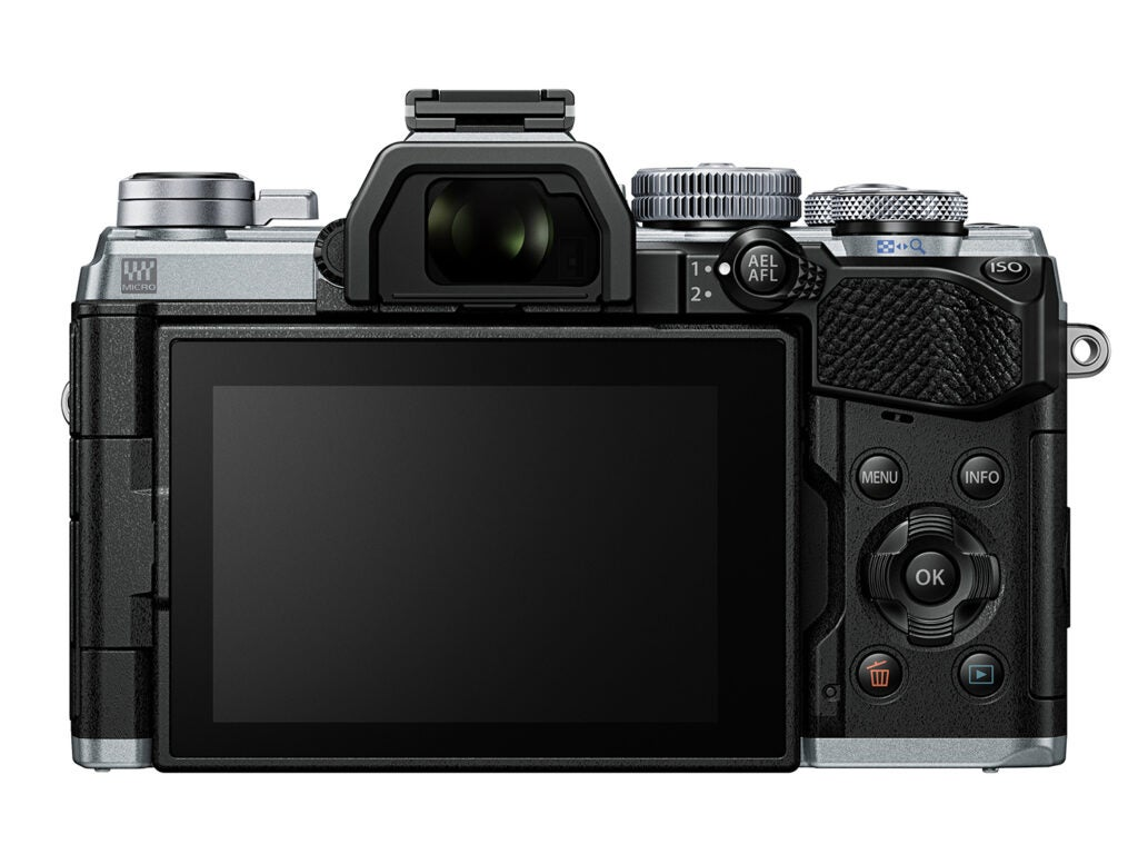 Back view of the new Olympus OM-D E-M5 III