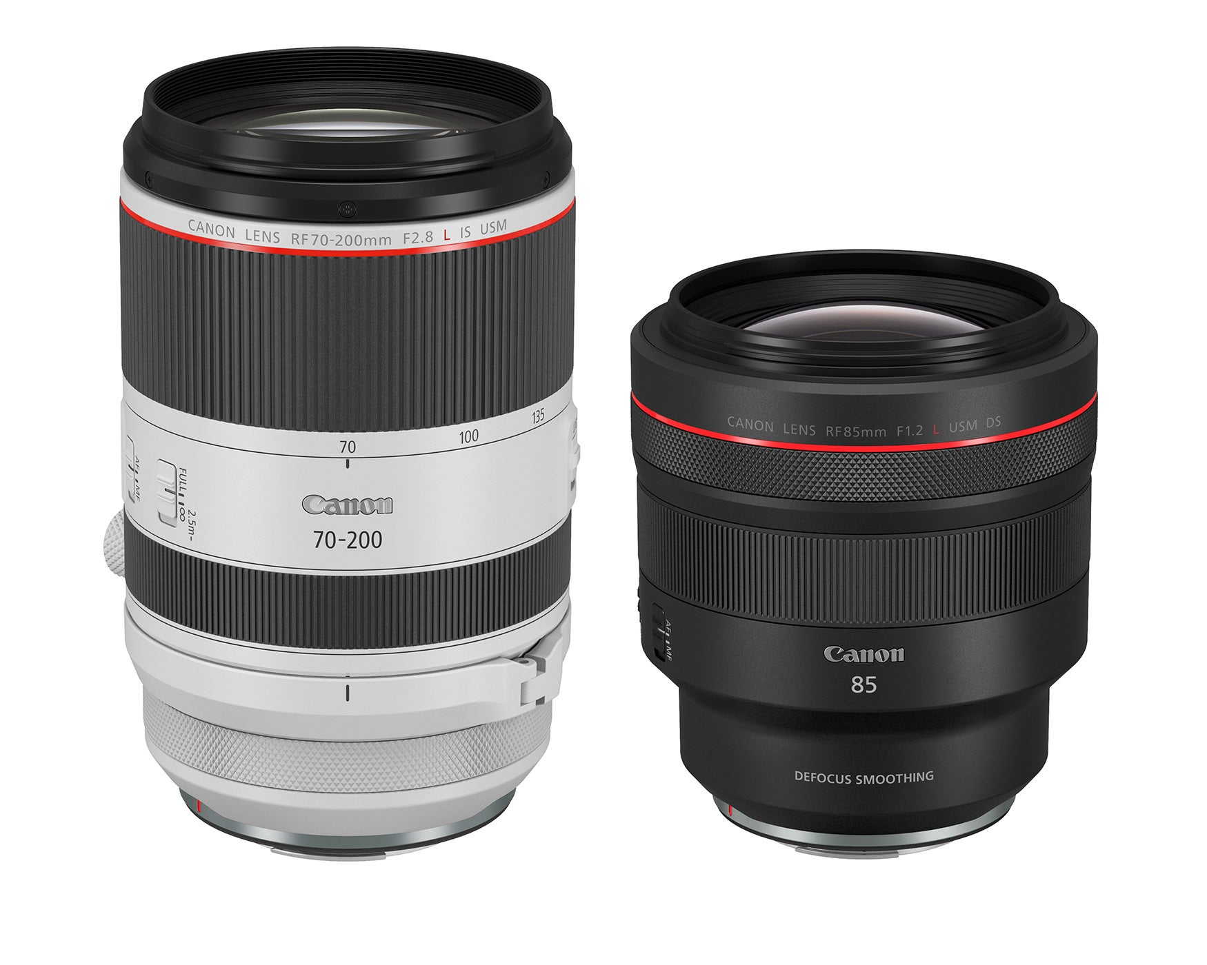 Canon announces two new RF mount lens, the 85mm f/1.2 and the 70-200mm f/2.8