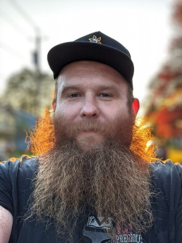 Portrait mode beard