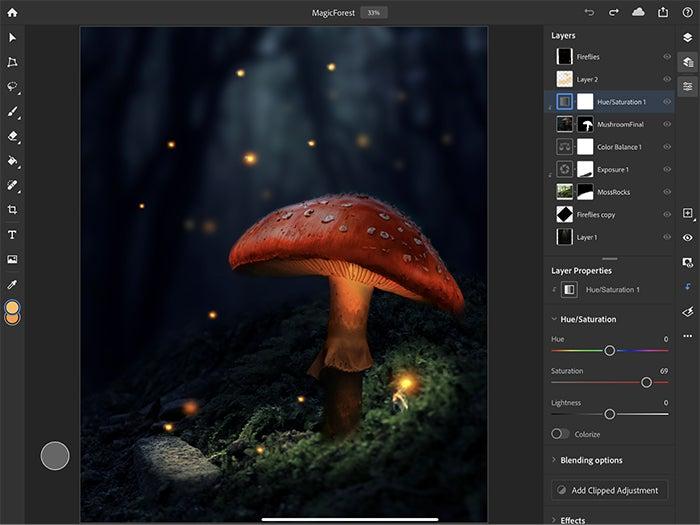 Adobe Photoshop editing