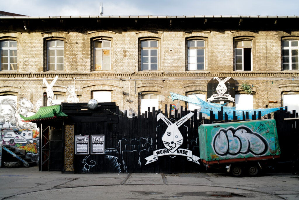 side of building with graffiti