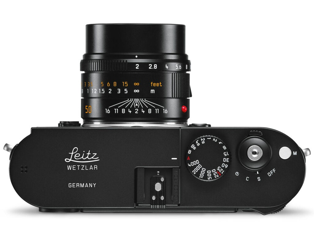 Limited edition Leica M Monochrom camera top view