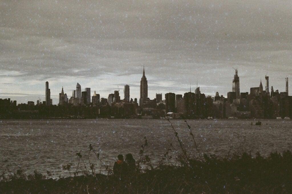 Manhattan skyline on an overcast day