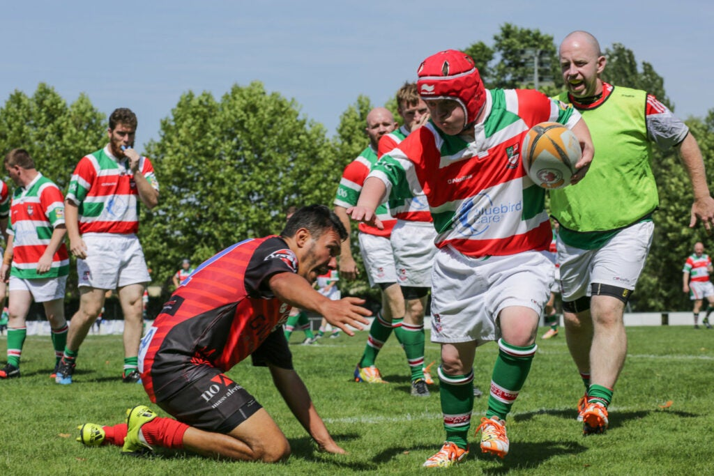 People playing rugby