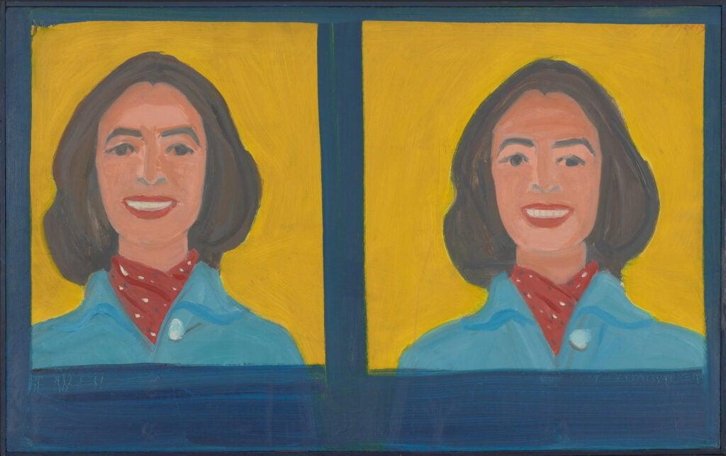 Alex Katz, Double Portrait with Frames