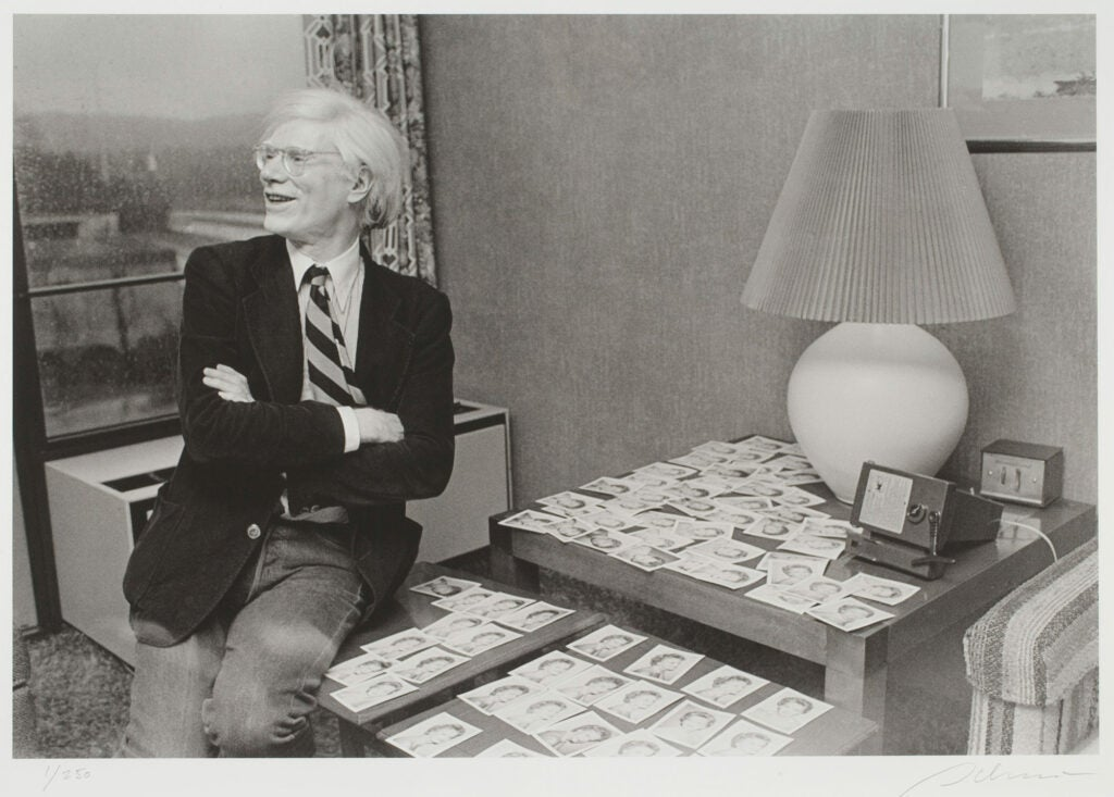 Rowland Scherman, Andy Warhol aside Polaroids of Caroline Ireland