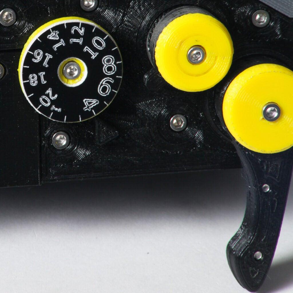 laser cut frame counter dials