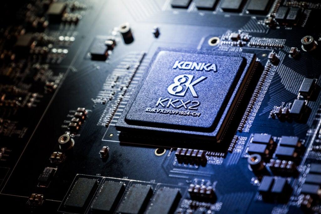 8K upscaling chip.