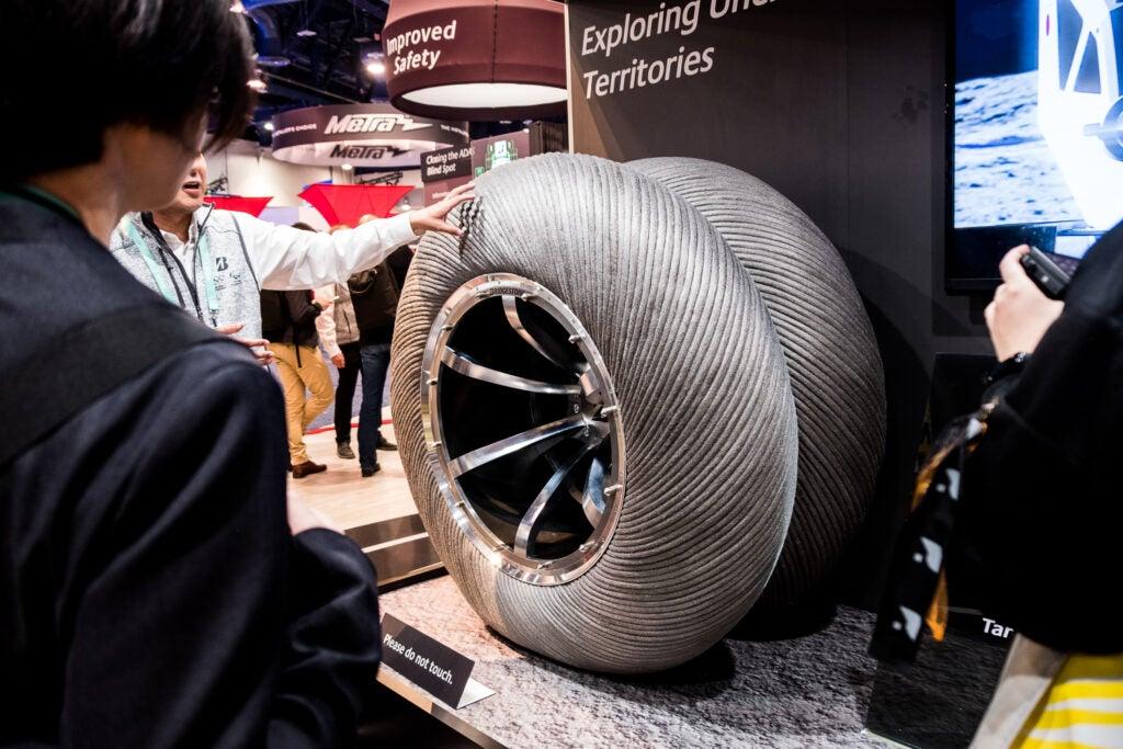 Bridgestone space tires.