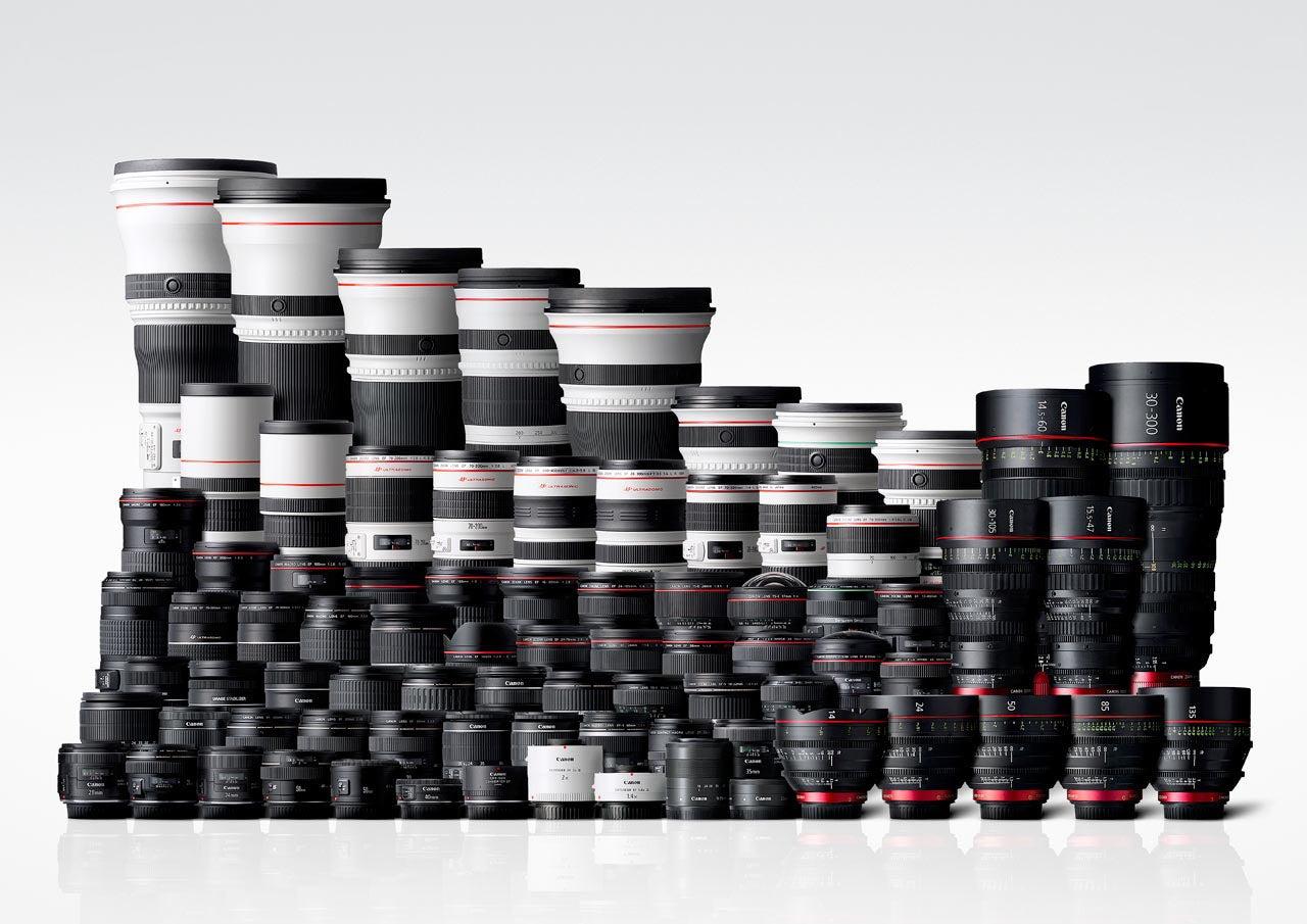 Canon EF Lens lineup