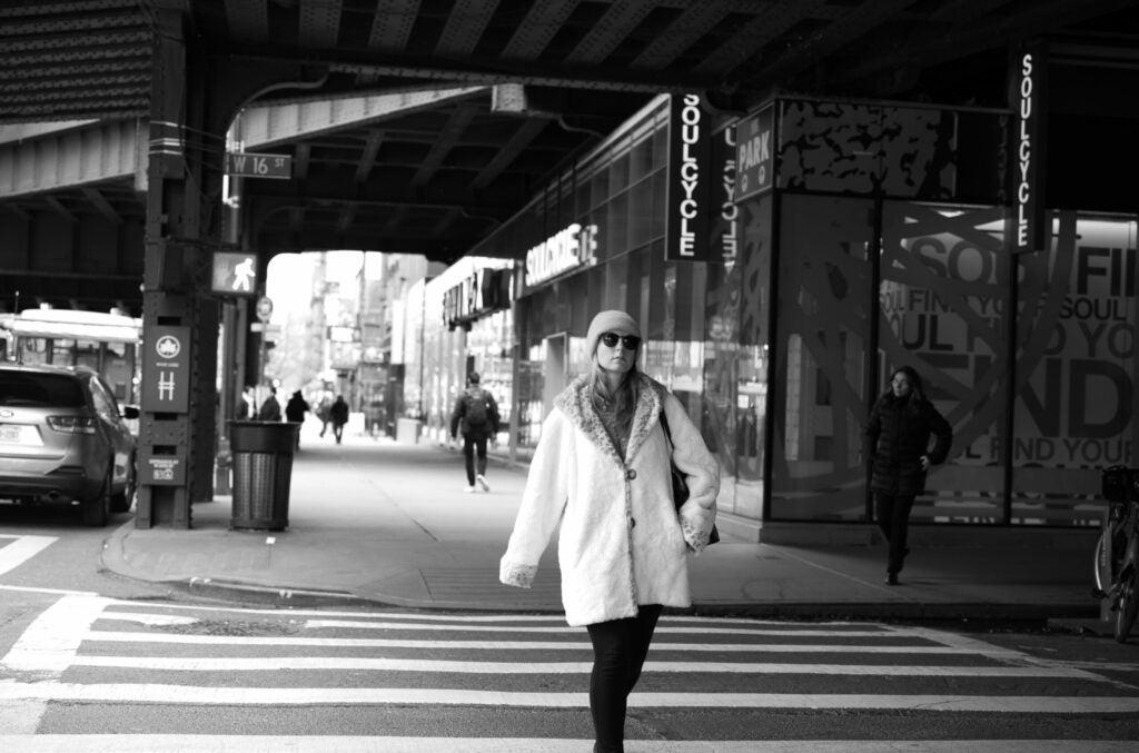 Crossing the street in Chelsea